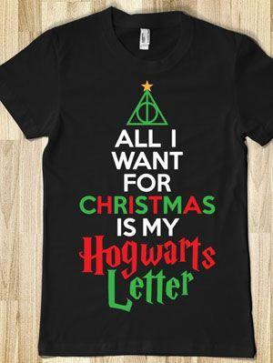 20 Harry Potter Gifts: Merchandise, Jewelry, Shirts, Mugs | Gurl.com... Perfect Christmas shirt