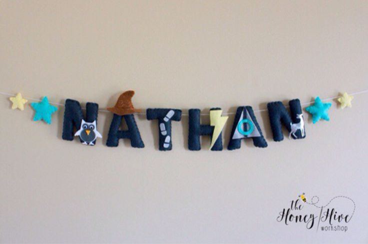 Harry Potter baby, harry potter, harry potter decor, harry potter nursery decor, baby harry potter, harry potter name, felt name by TheHoneyHiveWorkshop on Etsy https://www.etsy.com/ca/listing/528625422/harry-potter-baby-harry-potter-harry