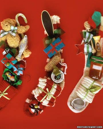 Themed Stocking.   What a great idea, I think Santa just might go in this direction this year.