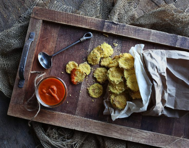 Crispy Zucchini Chips with Turmeric Spiced Ketchup