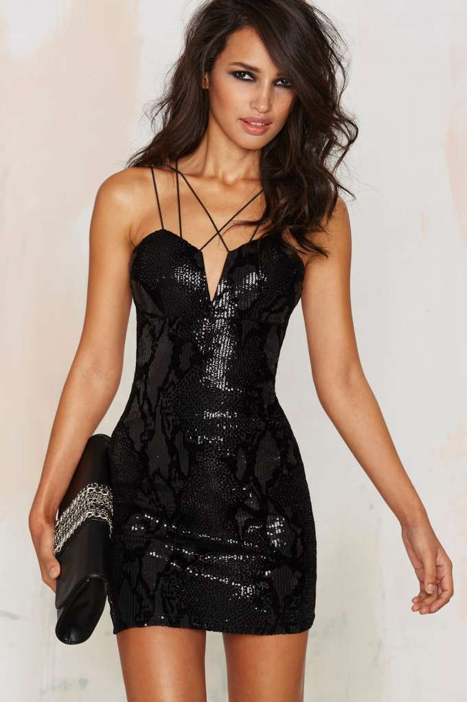 Rare London Roxbury Sequin Mini Dress | Shop Clothes at Nasty Gal!