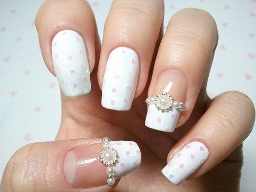 82 best wedding nails images on pinterest nail design gel nails cute wedding nails design prinsesfo Gallery