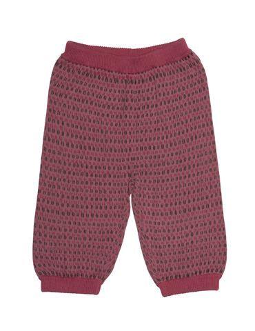 Printede bukser i fin strik - Rosa