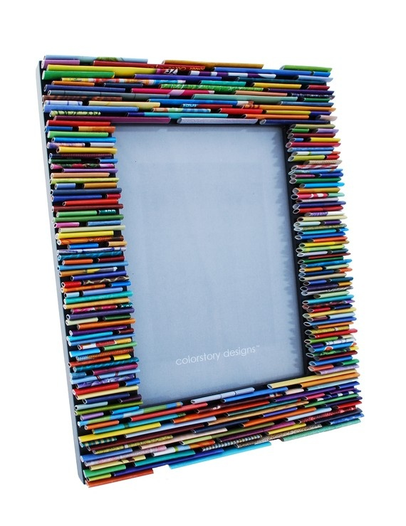 picture frame made from recycled magazines