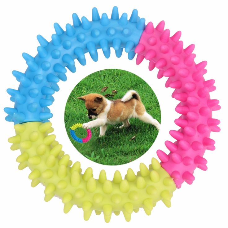 Dog's Toys Pet Traning Products Pets 3 Color Embossment Spinose Ring TPR Rubber Toys Resistance to bite www.peoplebazar.net    #peoplebazar