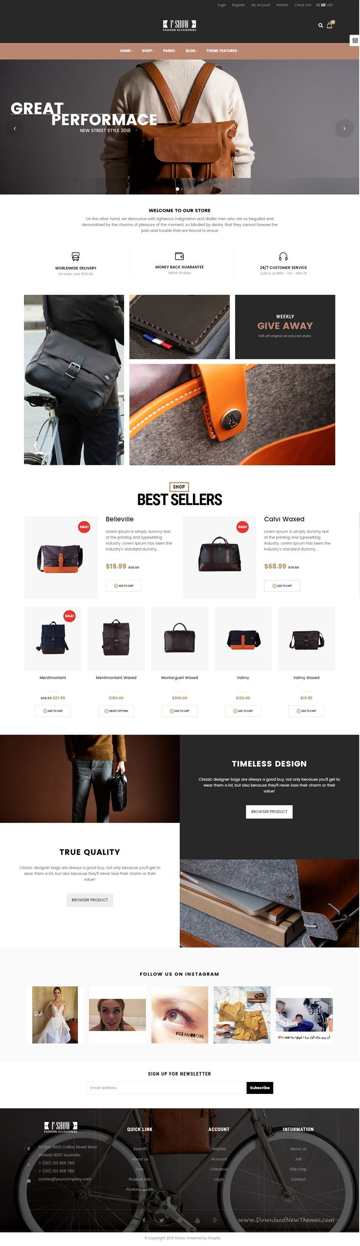 Ap Fshow is responsive Shopify template. It is designed for any eCommerce #website and diversified commodities as fashion store, cosmetic store, #bag #store and multiple store.