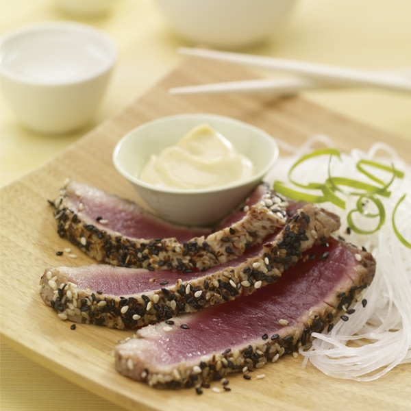 Black and White Encrusted Tuna with Wasabi Aioli   What's ...