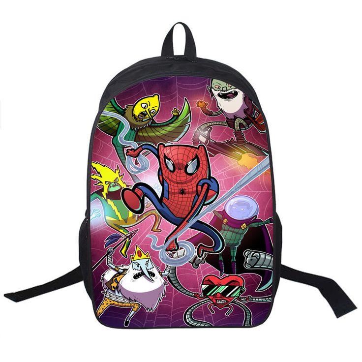 Anime Character Mario Sonic Pikachu Printing Backpack For Teenagers Boys Girls School Bags Pokemon School Backpacks Kid Gift Bag