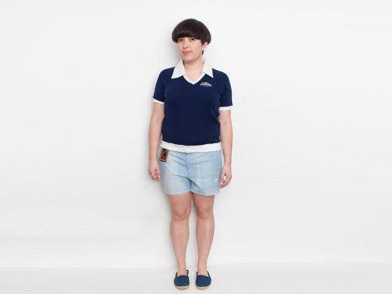 NOS Vintage Shorts deporte ligero denim lavado por blessthatdress