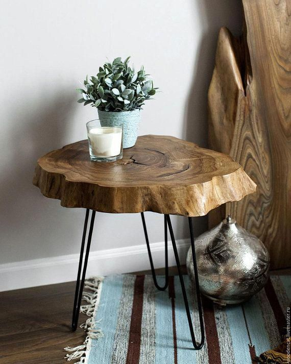 Live Edge Table Wood Slice Coffee Table Small Round Coffee Table