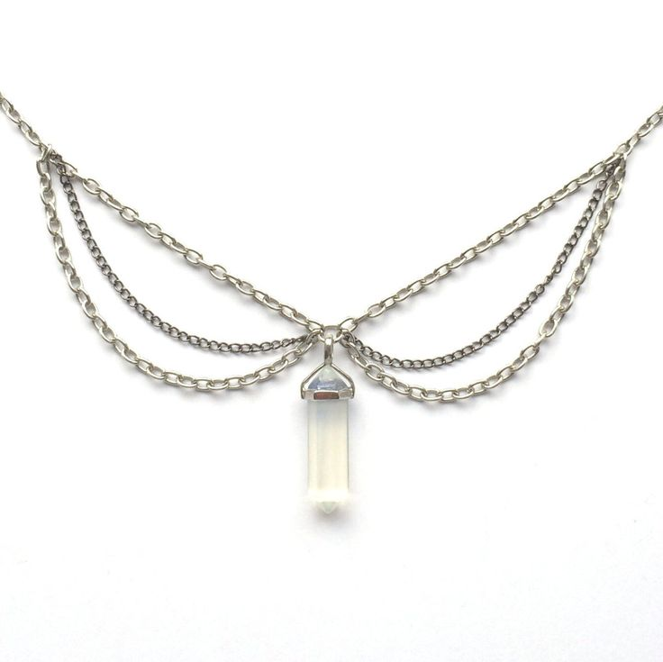 Crystal Triple Chain Choker