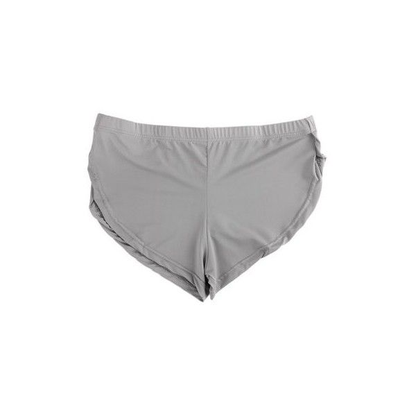 Casual Soft Split Underwear Trunks Briefs Beachwear Household Loose... ($4.32) ❤ liked on Polyvore featuring men's fashion, men's clothing, men's underwear and grey