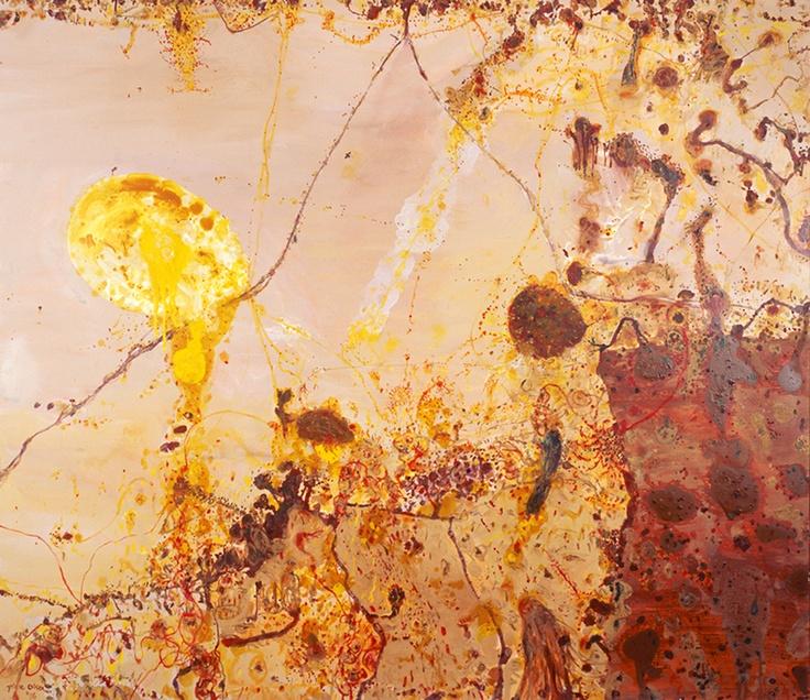 John Olsen palette and mark-making inspiration