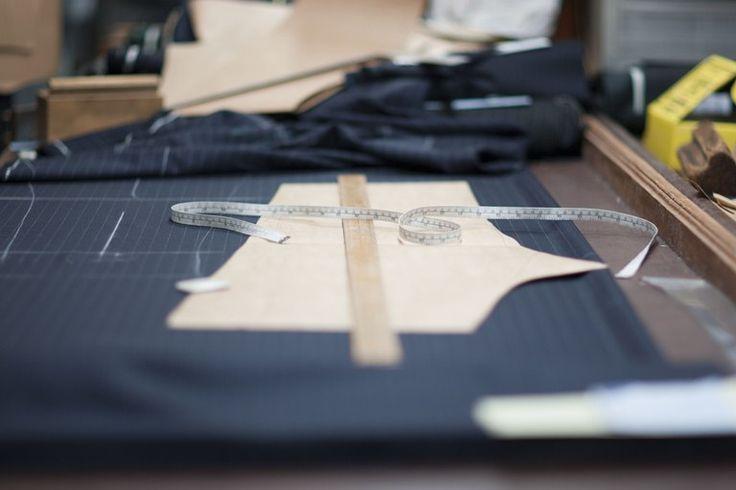 Artistic shot of pattern drafting at SavileRow Training Academy