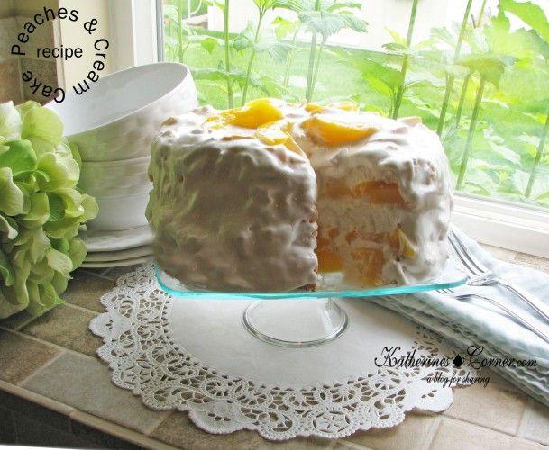 Peaches and Cream Dessert - Katherines Corner / @katherinesgifts