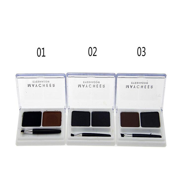 2 Colors professional Eyebrow Powder Palette Shading Brush Makeup Eyebrow Cosmetic Kit