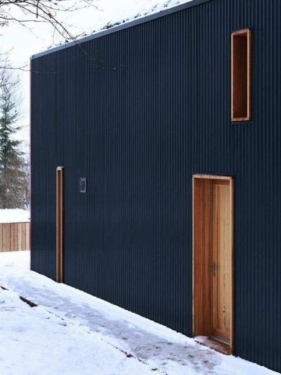 modern corrugated siding - Google Search