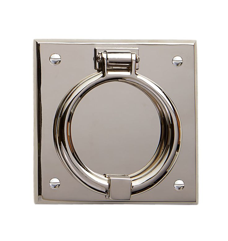 Ring On Beveled Square Door Knocker C5904