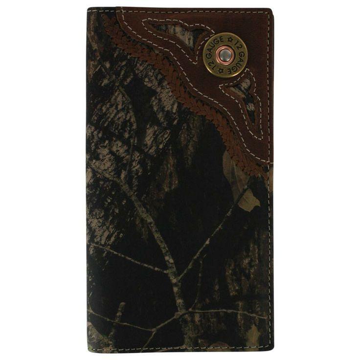 Nocona Men's 12 Gauge Camo Checkbook Wallet