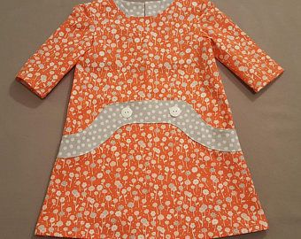 Custom made toddler and girls a-line dress. Perfect for everyday wear or any special occasion.