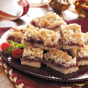 Coconut Raspberry Bars  this is the second time I'm making these!  My family loves them.. I do add raw sunflower seeds though! :)