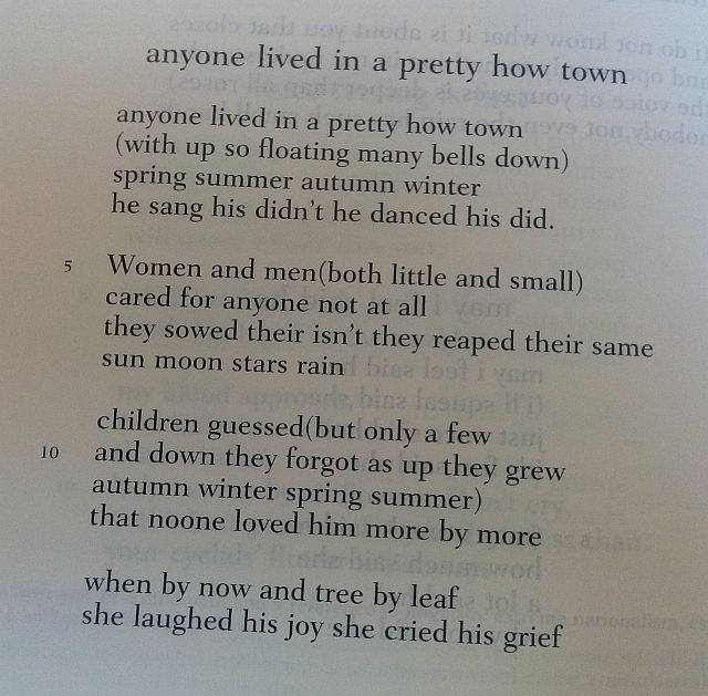 essay on anyone lived in a pretty how town Anyone lived in a pretty how town archival recordings of poet ee cummings, with an introduction to his life and work.