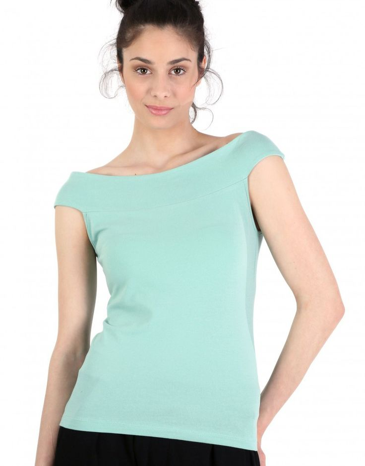 Bardot top (in Black, Pink/Purple, White, Emerald Green and Mint Green)