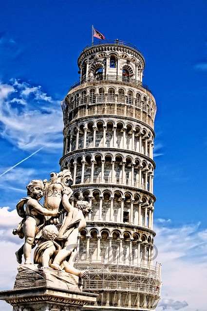 Day 10 - Pisa Tower Tower of Pisa (Torre di Pisa) is the campanile, or freestanding bell tower, of the cathedral of the Italian city of Pisa,