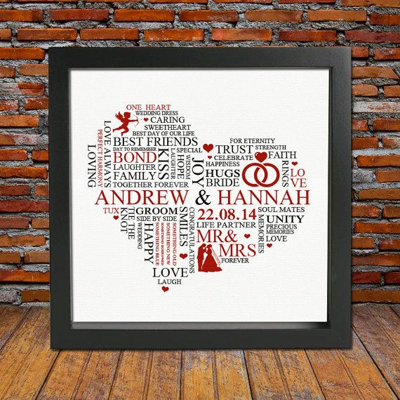 Personalised Wedding Gift Present Ideas Unique Newly Wed Gifts Day