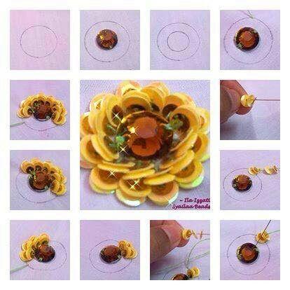Flores lentejuela