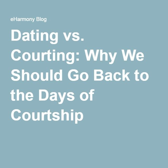 What is the difference between christian courtship and dating