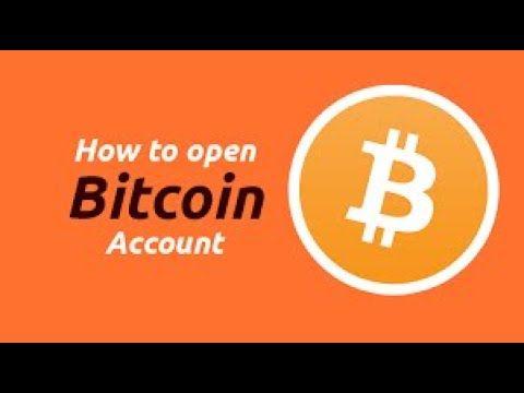How to create bitcoin account