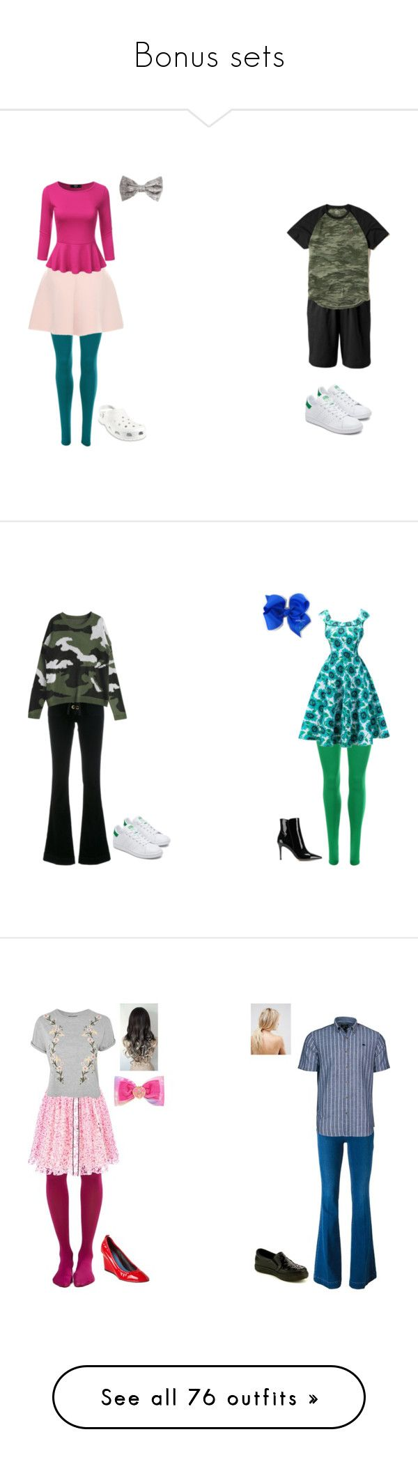 """""""Bonus sets"""" by sierra-ivy on Polyvore featuring WearAll, RED Valentino, Croft & Barrow, Hollister Co., Crocs, The Seafarer, Gianvito Rossi, Jonathan Aston, Fendi and Topshop"""