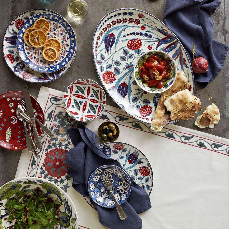 Iznik Dinnerware Collection love the mix of colors u0026 patterns. Very fresh u0026 modern & 377 best Beautiful Small Plates/ Mezze: Middle Eastern/Mediterranean ...
