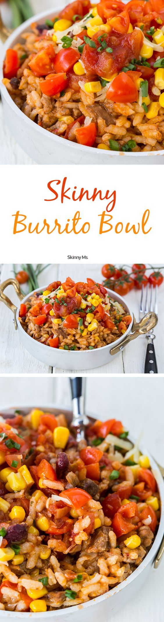 This Skinny Burrito Bowl is a recipe that tastes like takeout that you can make at home! #burritobowl #takeoutfakeout #Mexican: