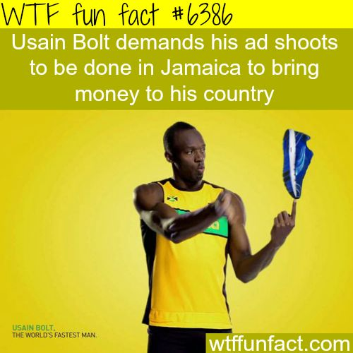Usain Bolt's ads - WTF fun facts