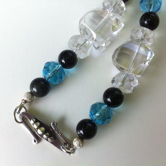 Semi-precious Stone Necklace Set  Royal Blue by BluePearEmporium