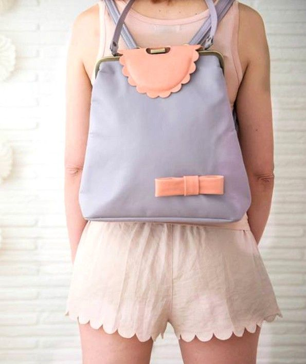 Vintage style lilac backpack