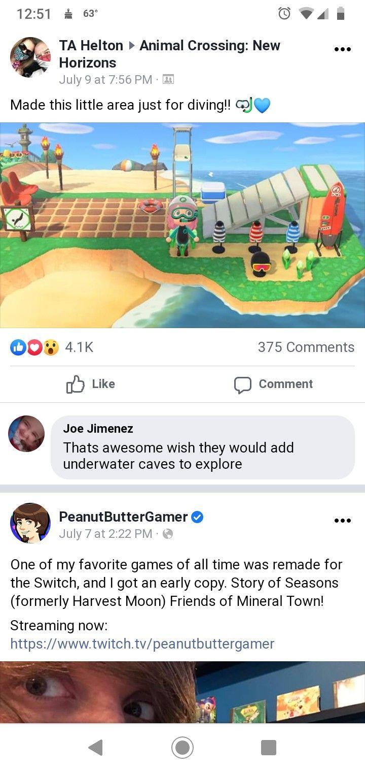 Diving Area In 2020 Animal Crossing Underwater Caves Diving