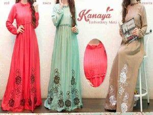 Detail produk untuk Baju muslim maxi dress kanaya S433 ini,silahkan lihat info produk yang ada dibawah ini : Kode produk : S433 Nama produk : maxi dress kanaya Bahan : Rayon embrodery maxi U