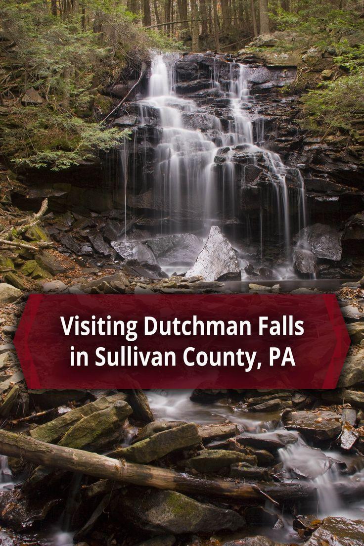 Dutchman Falls along the Loyalsock Trail in