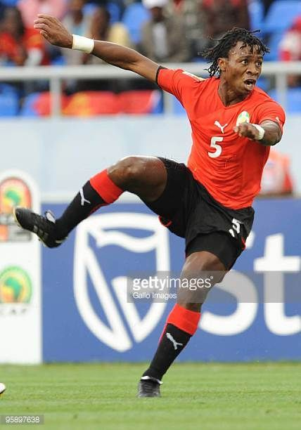 Paito of Mozambique in action during the African Nations Cup Group C match between Nigeria and Mozambique at the Alto da Chela Stadium on January 20...