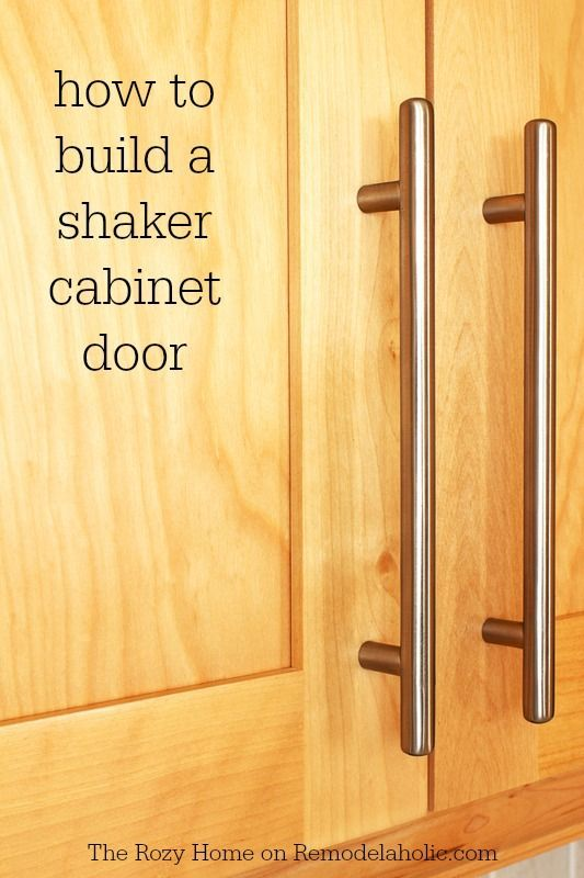 Update Your Kitchen With These Simple But Stylish DIY Shaker Cabinet Doors.  This Easy Tutorial Walks You Through The Whole Process.