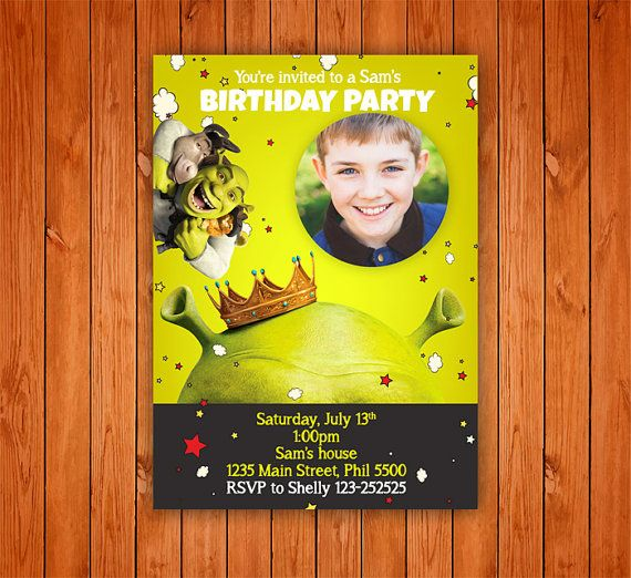 61 best Printable Party Invitations Birthday template images on – Personalised Birthday Invitations for Kids