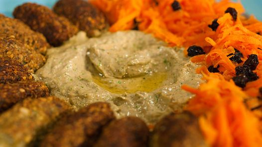 Falafel with Carrot Salad and Green Tahini by Janella Purcell via Good Chef Bad Chef