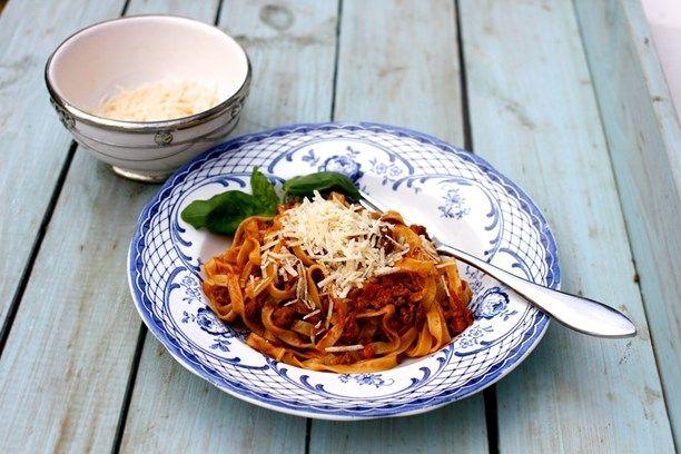 Klassikernas klassiker: Pasta bolognese. Foto: Tomas Tengby/Meny i P1