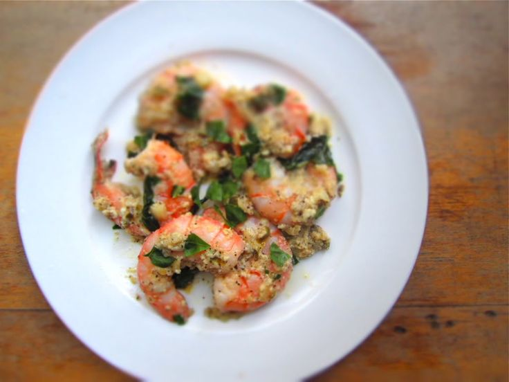 Shrimp with Feta, Lemon, and Capers.