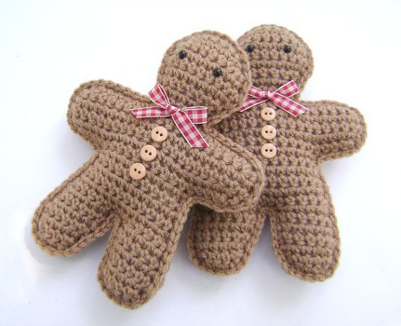 Crochet Gingerbread Man Christmas Decoration by PrissysPlace
