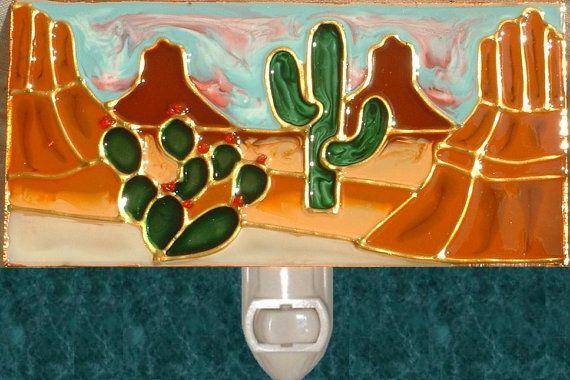 Southwestern Night Light Decorative Arizona Art Red Rock