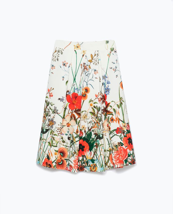 PRINTED SKIRT WITH PLEATS-View all-Skirts-WOMAN-SALE   ZARA United States